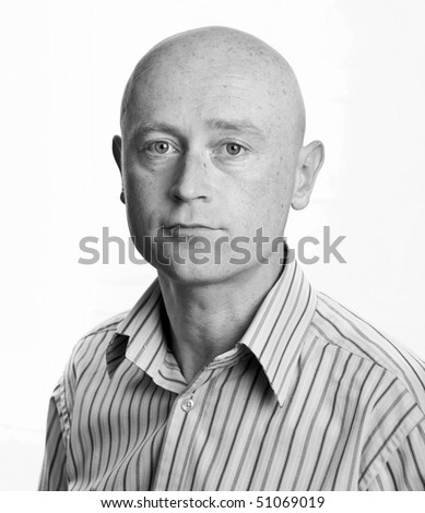 photo business man portrait in his 30's on white