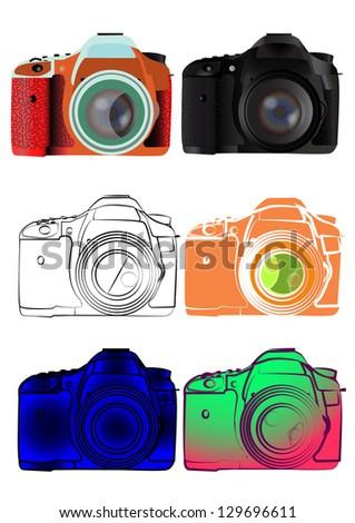 Photo Camera illustration - stock photo