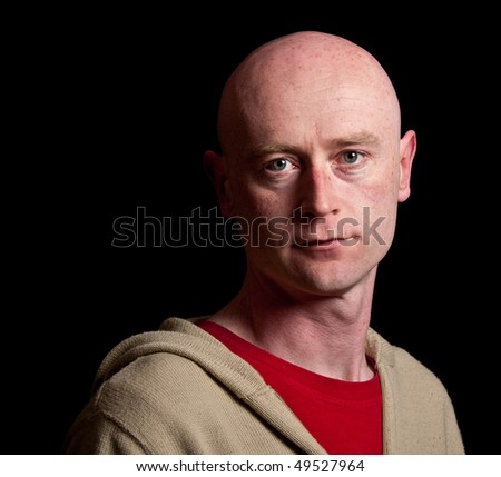photo capture of a midde age male on black screen - stock photo