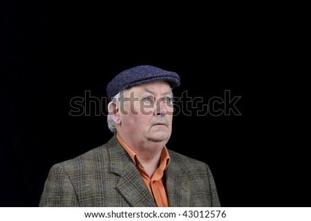 photo capture of a senior male portrait - stock photo
