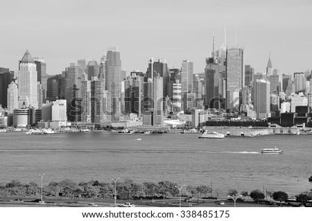 photo capture of midtown new york city, usa - stock photo