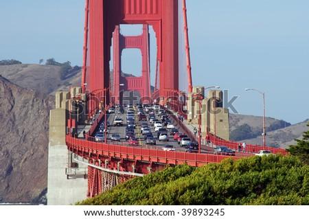 photo capture of the golden gate bridge, ca, usa - stock photo