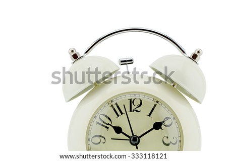 Photo clock face. Close-up, clipping part - stock photo