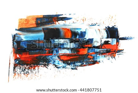 photo colorful grunge brush strokes oil paint isolated on white background