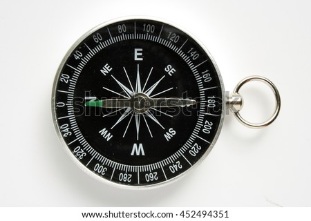 Photo compass on a white background