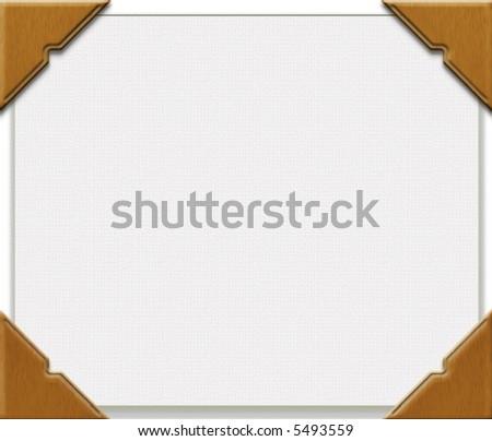 Photo corners on blank canvas - stock photo