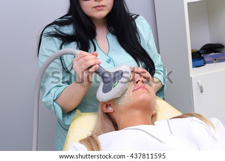 Photo Facial Therapy. Anti-aging Procedures. - stock photo