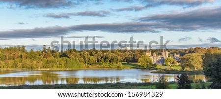 photo famous 5 star dromoland castle hotel and golf club in ireland - stock photo