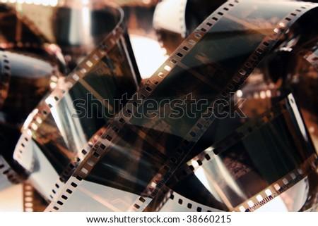 photo film background - stock photo