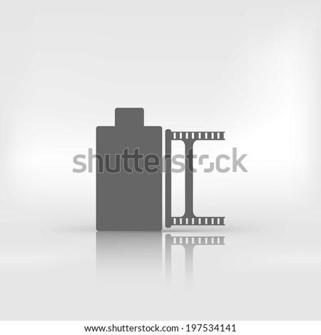 photo film in cartridge icon - stock photo