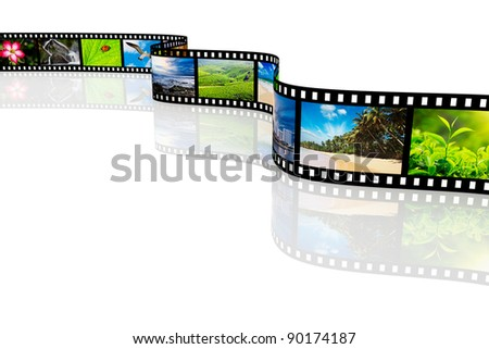 Photo film with reflection - stock photo