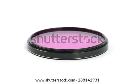 Photo filter isolated on a white background - stock photo