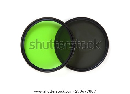 Photo filters isolated on a white background - stock photo