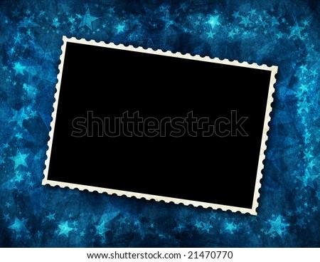 photo frame for christmas - stock photo