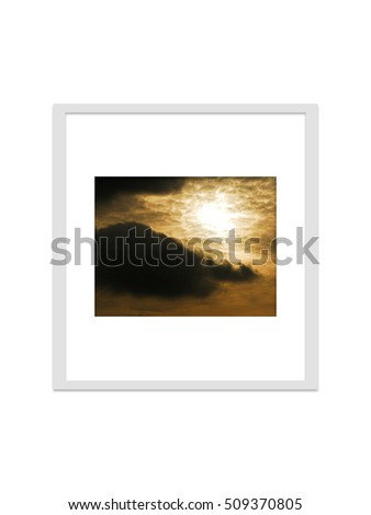 photo frame isolated for decorate, interior, souvenir, gift, design