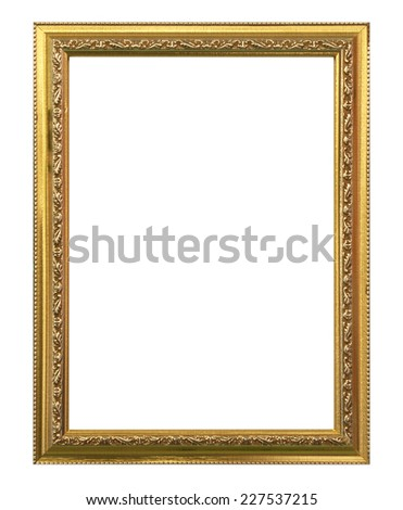 Photo frame isolated on a white background. - stock photo
