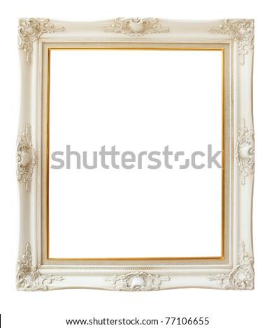 photo frame isolated on white - stock photo