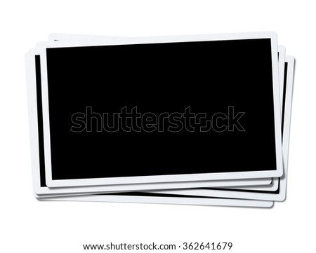 photo frame isolated on white background - stock photo