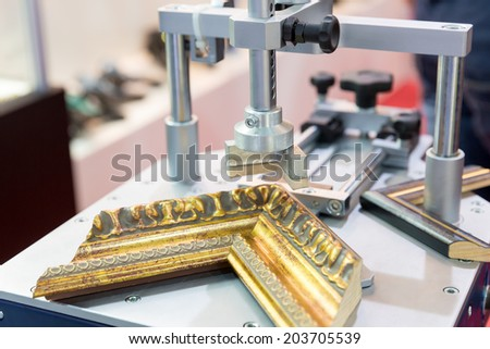 Photo frame making tools - stock photo
