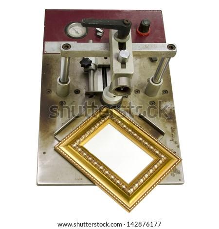 Photo Frame Making Tools Isolated On Stock Photo 142876177 ...
