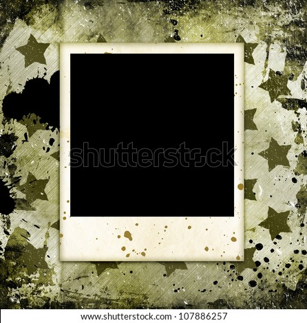 photo frame on military grunge background - Military Frames