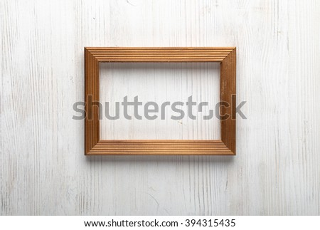 photo frame on white wall