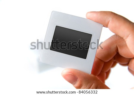 Photo frame. Slide 35mm on white background. - stock photo
