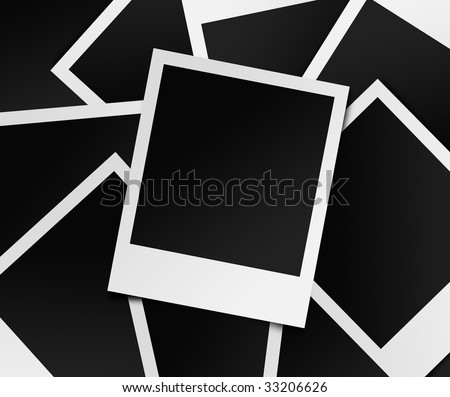 Photo frame splash in landscape - stock photo