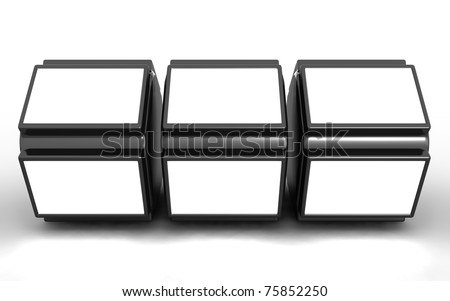 Photo frame stand display image in white space 3d illustration - stock photo