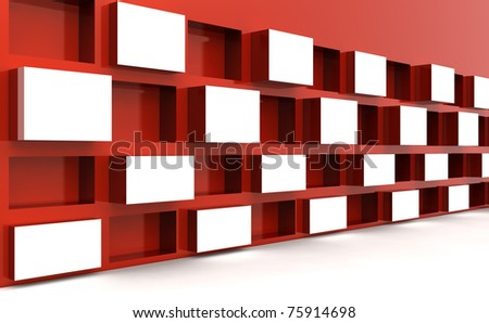 Photo frame stand display image or artwork in white space 3d illustration - stock photo