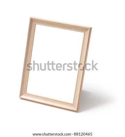 Photo frame standing - stock photo