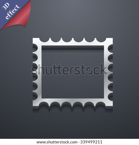 Photo frame template icon symbol. 3D style. Trendy, modern design with space for your text illustration. Rastrized copy - stock photo