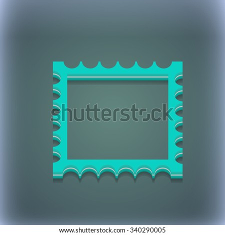 Photo frame template icon symbol. 3D style. Trendy, modern design with space for your text illustration. Raster version - stock photo