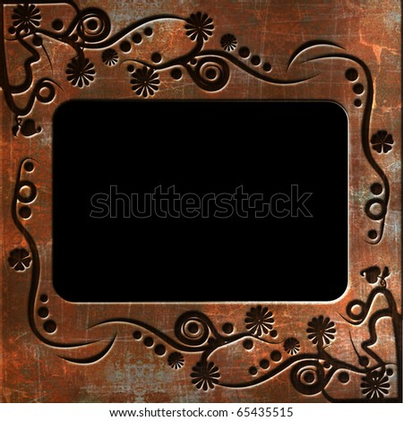 Photo frame with pattern