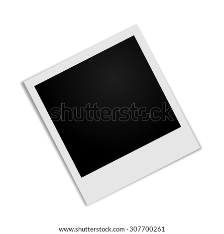 Photo Frame with shadow - stock photo