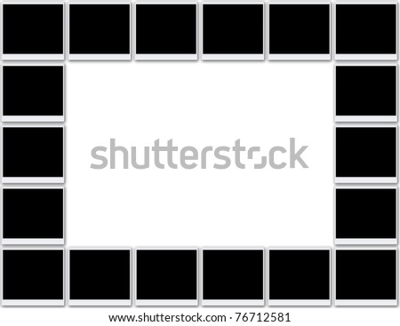 photo frames and picture frames - stock photo