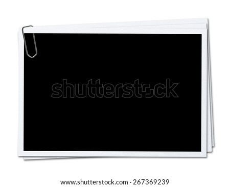 photo frames isolated on white