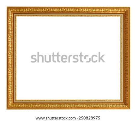 Photo frames isolated on white background. - stock photo