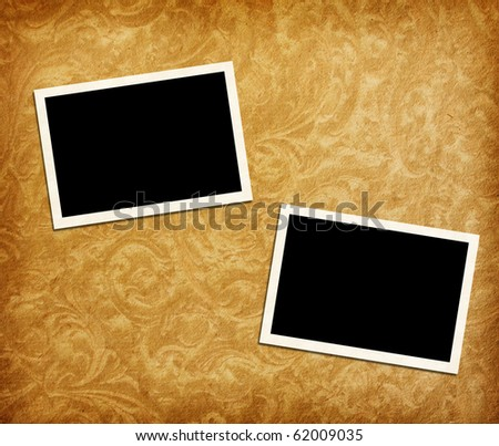 photo frames on vintage  paper - stock photo