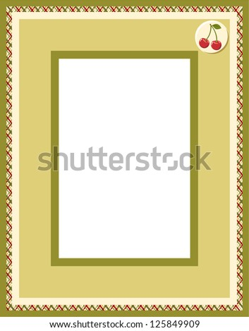 Photo framework. Raster version, vector file available in portfolio. - stock photo
