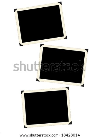Photo framework retro isolated on a white background. - stock photo