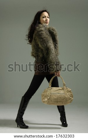 Photo from a fashion shoot. Show-themed - stock photo