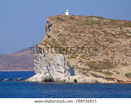 Photo from picturesque small island of Kimolos, Cyclades, Greece