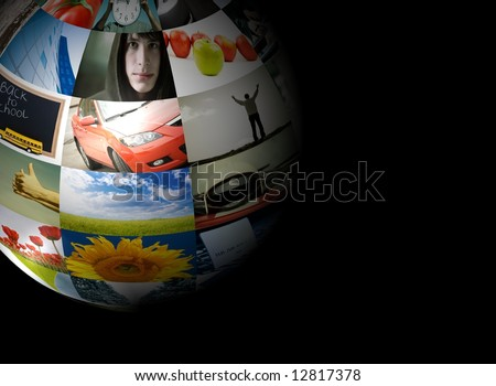 photo globe (made from my images) - stock photo