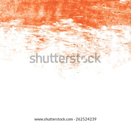 photo grunge brown wax pastel crayon spot,  isolated on white background - stock photo