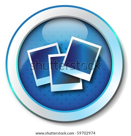 Photo icon - stock photo