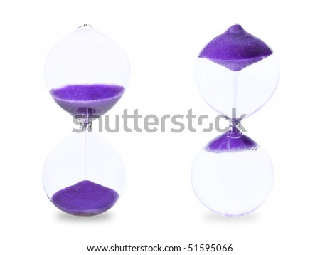 Photo illustration of returning time back - stock photo