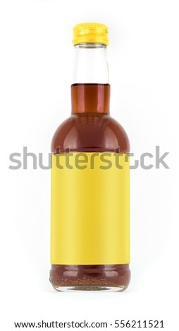 Photo-Layout bottles for drink on a white background with a blank label