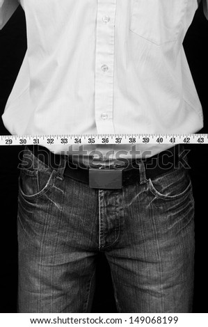photo male in his 30's in shirt on black back drop - stock photo
