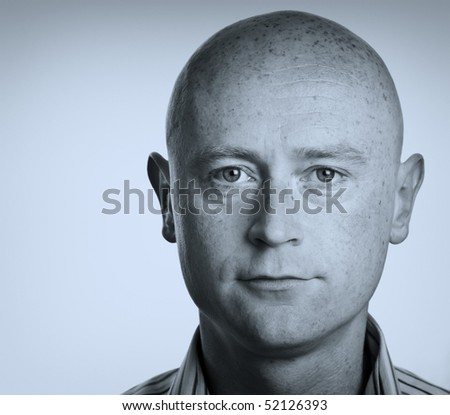 photo male portrait close up on white backdrop